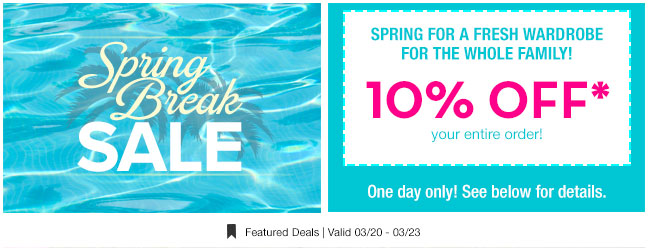 10% off to spring for a fresh wardrobe!