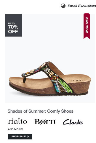 Shades of Summer: Comfy Shoes