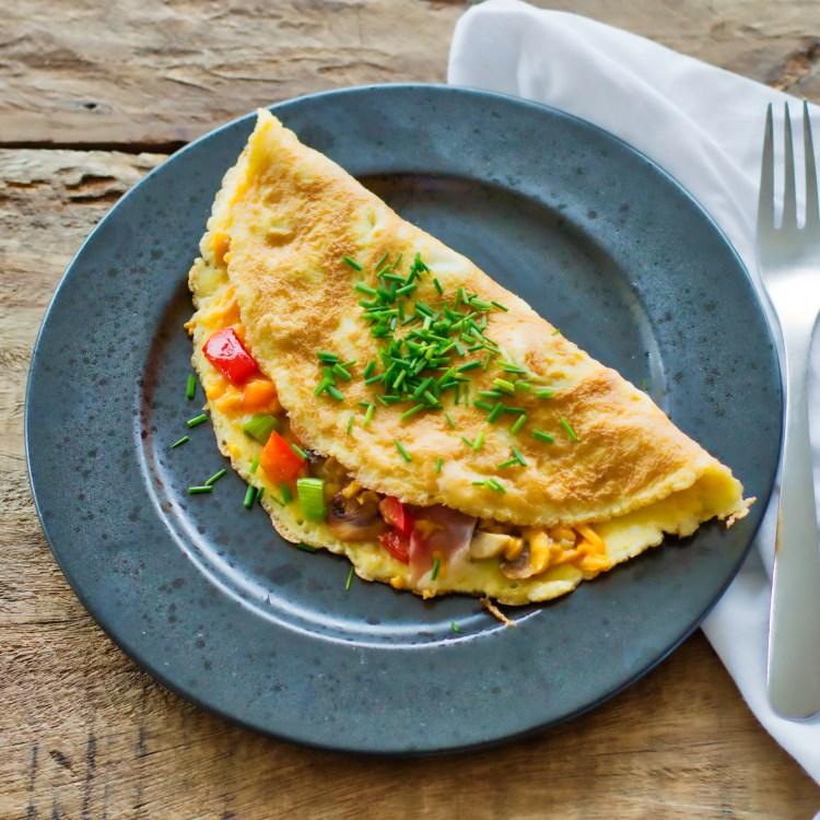 Omelet med skinke | 6pm.dk