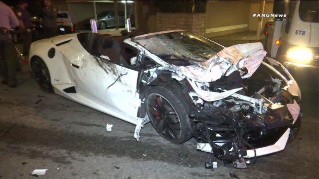 6SpeedOnline.com Lamborghini Huracan Spyder Smashed and Dashed Hollywood Crash KTLA