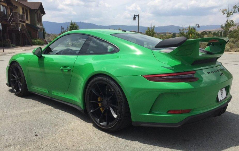 2018 Porsche 911 GT3 Rear Corner in Viper Green