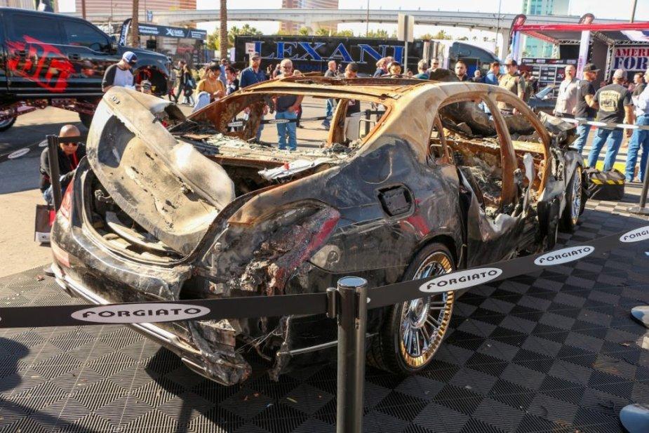 Burned Maybach Rear Corner