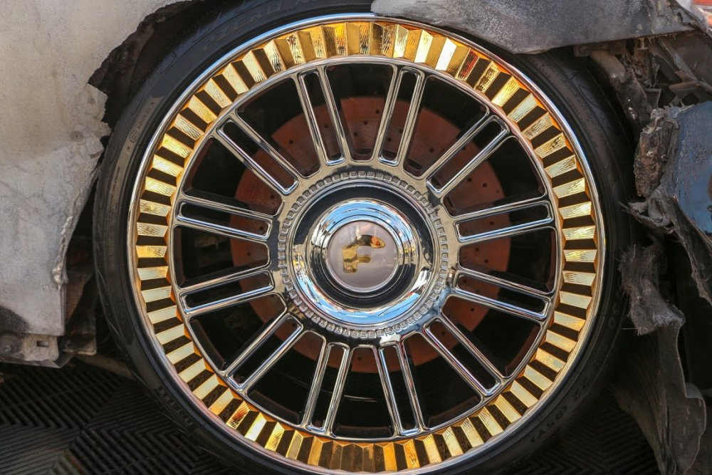 Burned Maybach Wheel Close