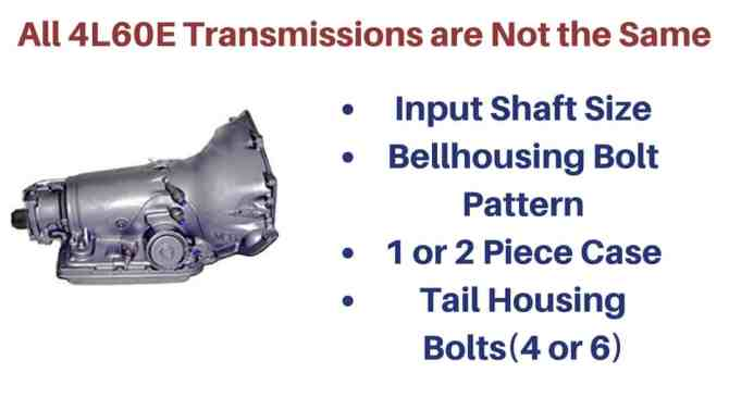 are all 4l60e transmissions the same  drivetrain resource
