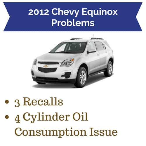 equinox problems chevy recalls