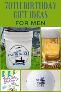 Personalized Fishing Pail 70th Birthday Bucket Gift
