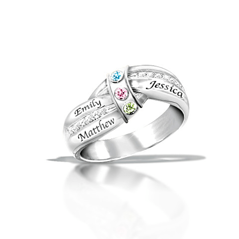 A Mothers Embrace Personalized Ring
