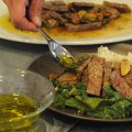 Garlic-Rosemary Steak With Mashed Potatoes and Mustard Greens – $10 or Less Meal