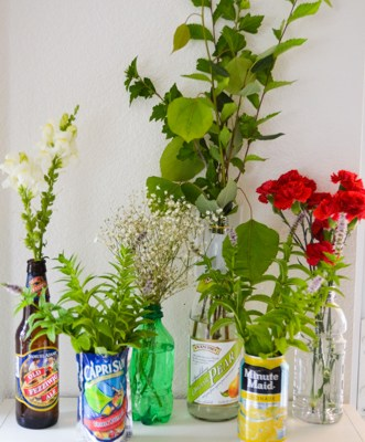 Think Outside The Vase…Cheap Or Free Flower Containers