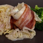 Bacon-Wrapped Chicken With Shallot Sauce – Less Than $3 Per Person