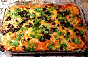 Chicken Enchilada Casserole – (Gluten-Free, Easy & $2.25 Per Person)