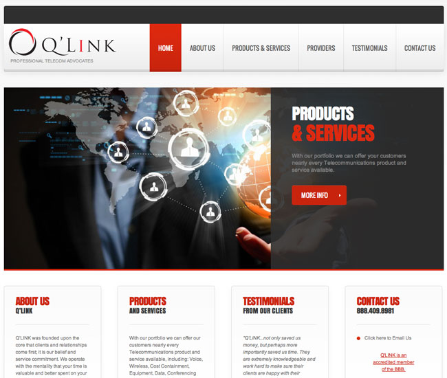 Website Design Colorado Springs wordpress qlink local business low cost