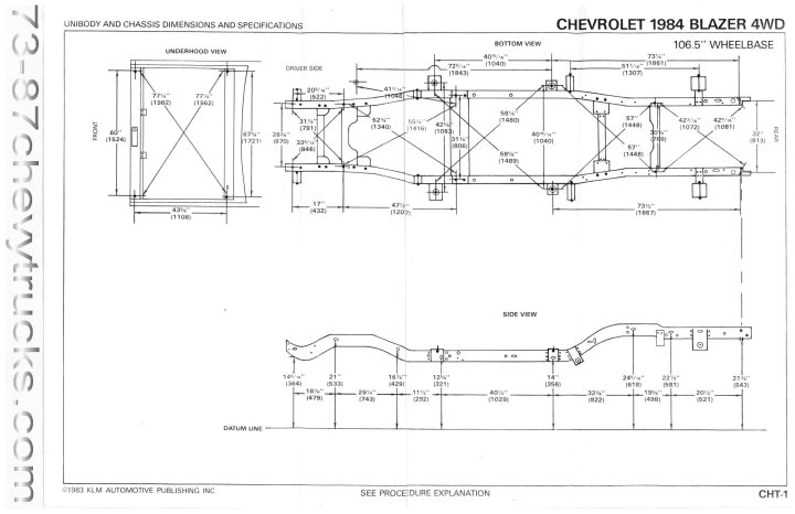 73 87 chevy truck frame dimensions | lajulak