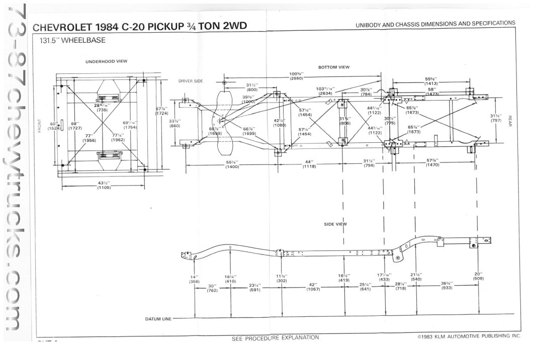 1990 Chevy Truck Frame Dimensions | Amatframe co