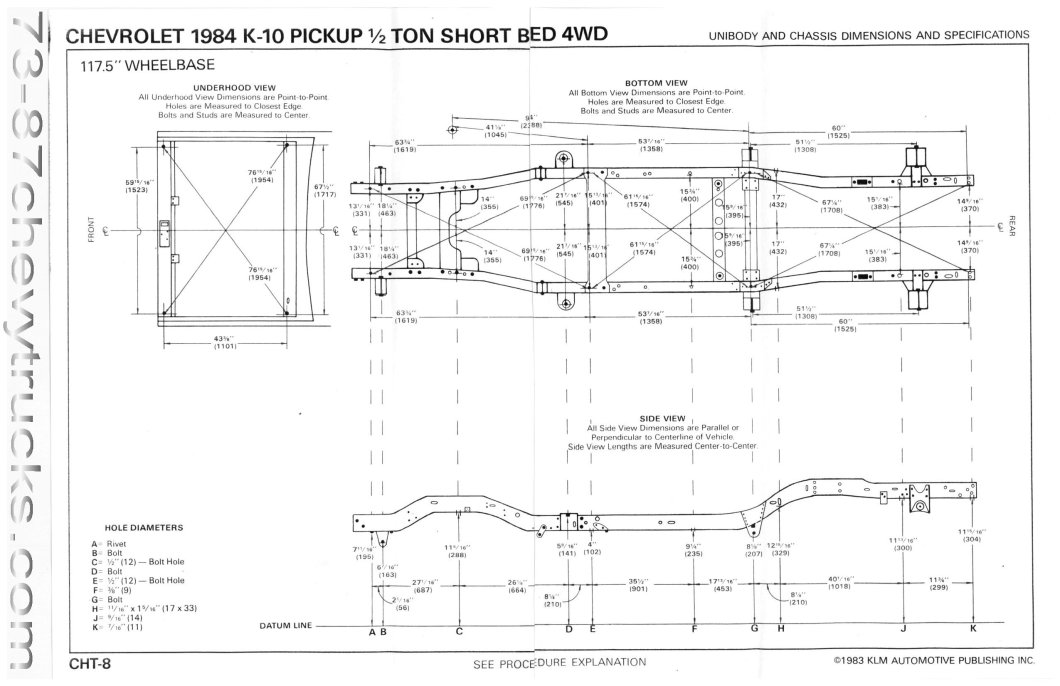1990 Chevy Truck Frame Dimensions   Amatframe co