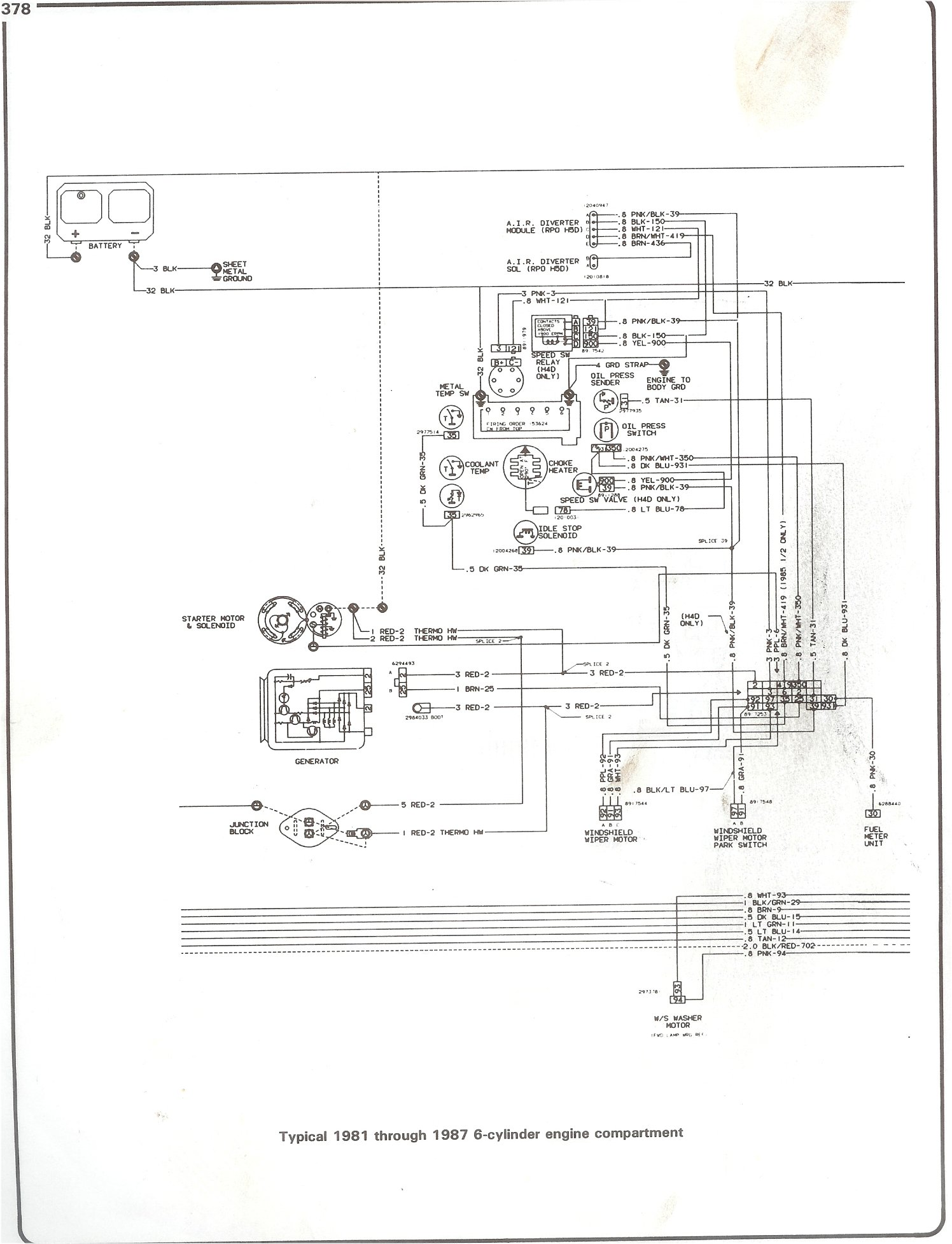 Wrg 96 S10 Engine Compartment Diagram