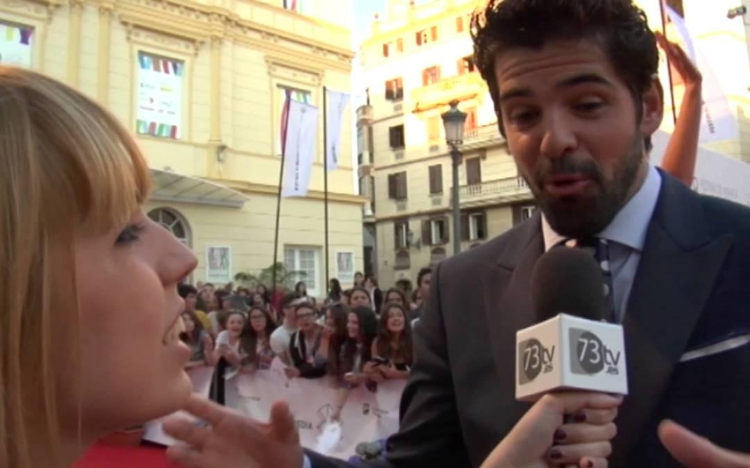 Miguel Ángel Muñoz en la Alfombra Roja del 18 Festival de Cine de Málaga