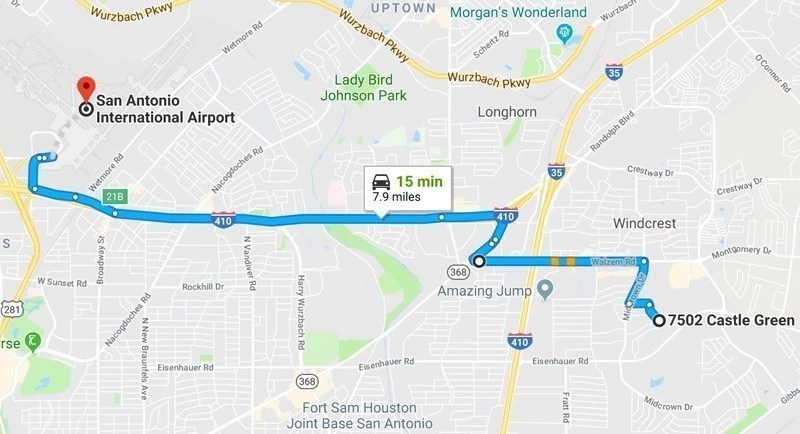 Getting Around Directions | San Antonio Airbnb House on fort hood directions, las vegas directions, fort sam houston directions, grand canyon directions, myrtle beach directions, fresno directions,