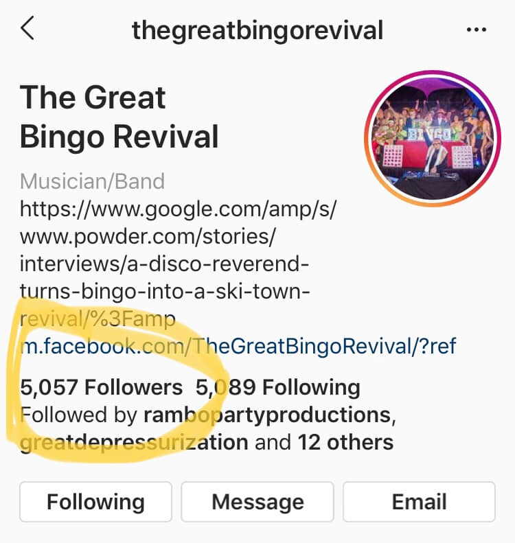 Bingo Revival 5000 Follower Club 775 Media De La Rosa Productions Instagram May 2019