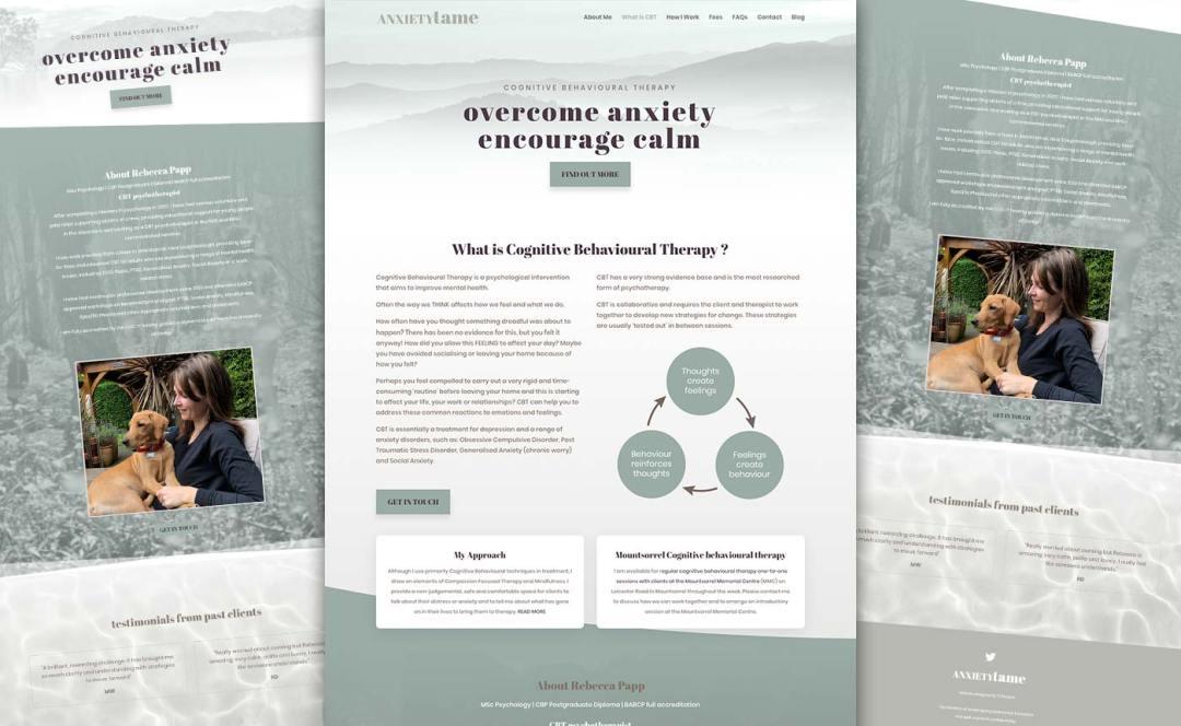 New desktop and mobile website design