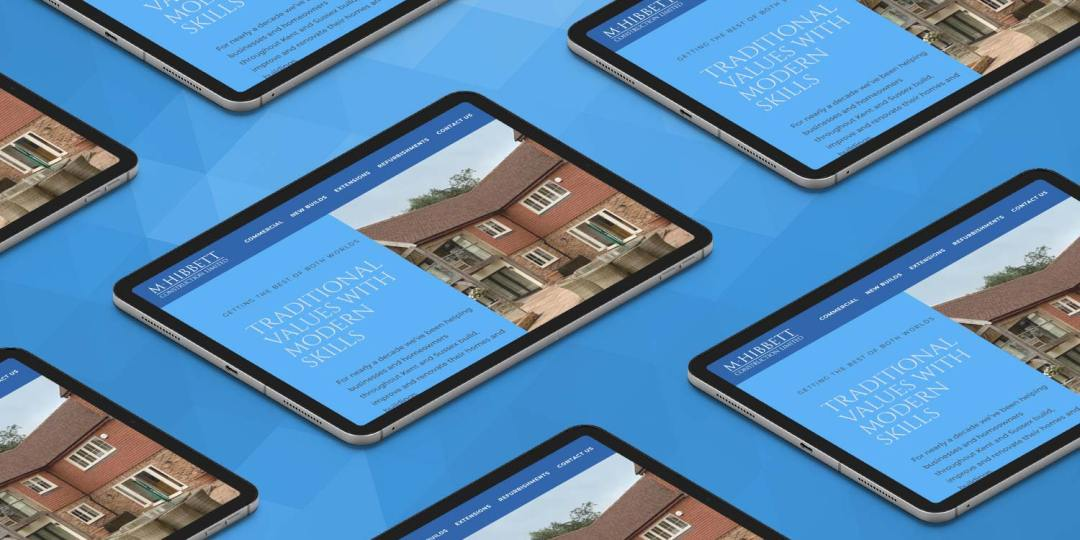 Ipads with the new website design on.
