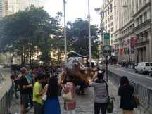 Charging Bull, downtown.