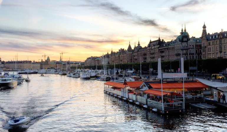Fim de tarde, Estocolmo.