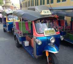 Tuk Tuk, the most popular mode of transportation in Thailand