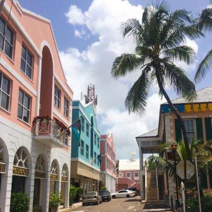 Downtown Nassau.