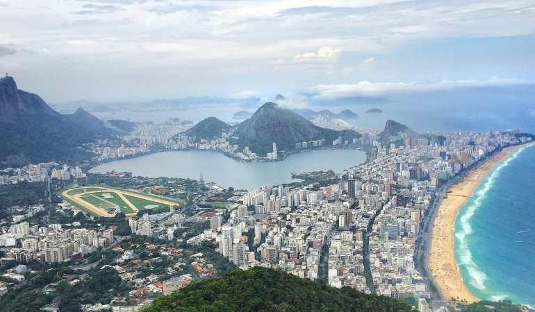 View from Morrow Dois Irmãos, Rio.