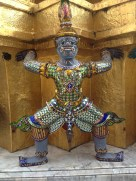 One of the demon guards at Grand Palace, Thailand.