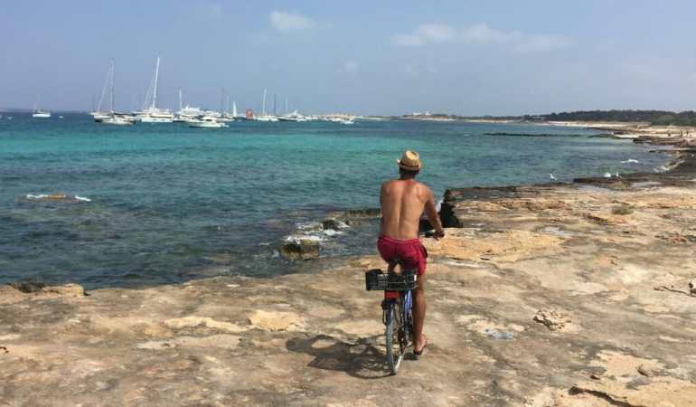 Biking in Formentera, Spain