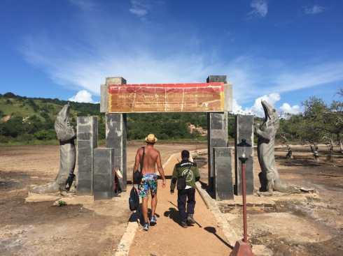 Rinca Island's entrance.