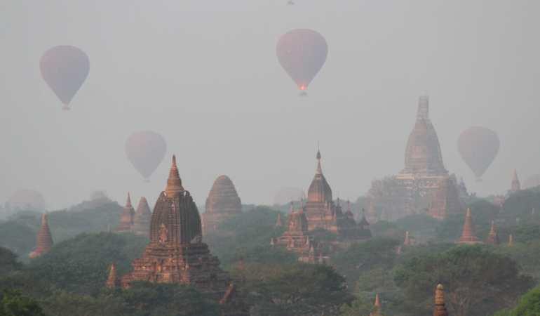 O Épico Passeio de Balão em Bagan, Myanmar