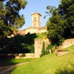 'Clockless' Clock Tower & rear wall