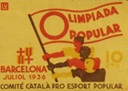 Olimpíada Popular poster: International worker-athlete brotherhood