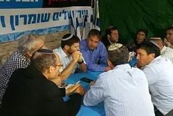 В палатке протеста