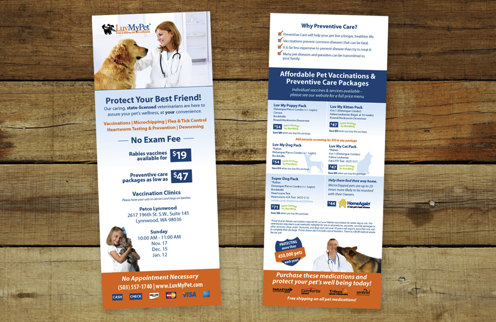 LuvMyPet Flyer Design by Dara Chilton with 7 Lucky Dogs Creative