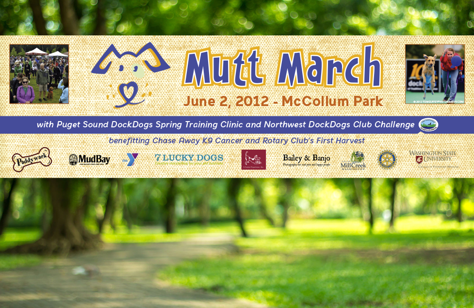 Mutt March Event Promotional Banner by Dara Chilton with 7 Lucky Dogs Creative