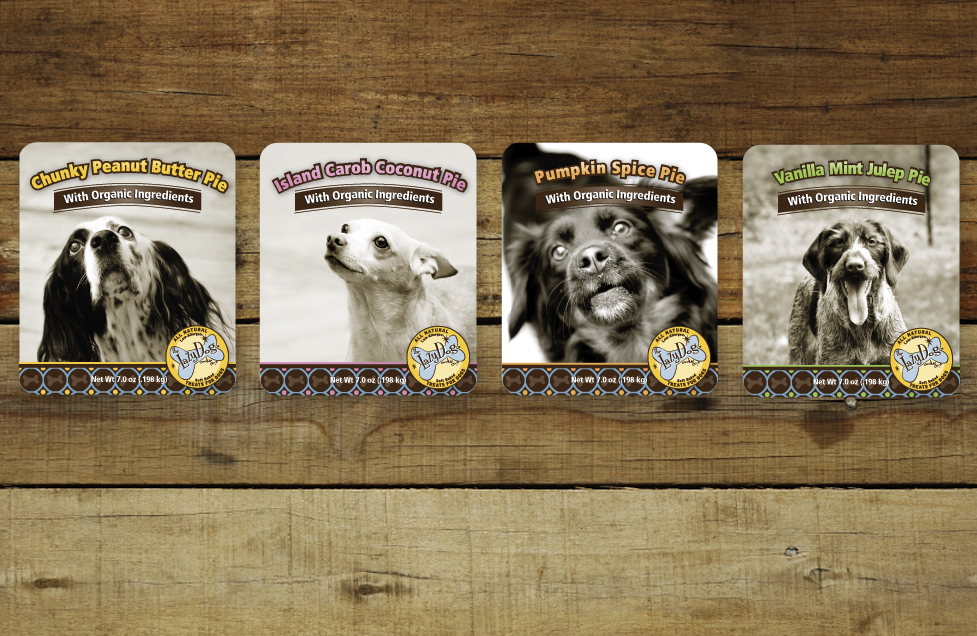 Lazy Dog Cookie Company Label Designs by Dara Chilton with 7 Lucky Dogs Creative