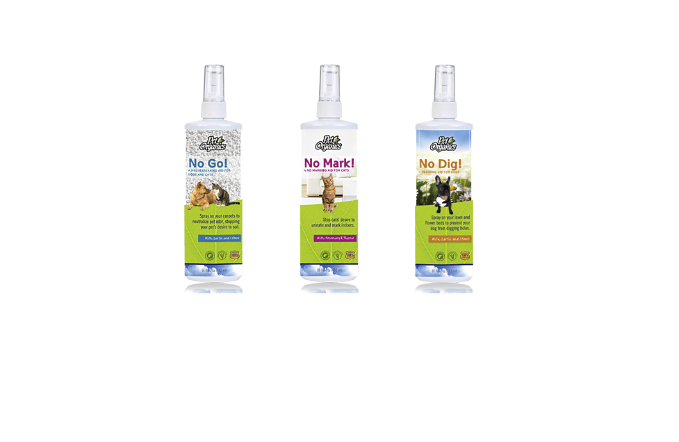 Pet Organics Sprays Package Design by Dara Chilton with 7 Lucky Dogs Creative