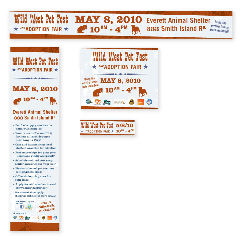 Wild West Pet Fest Banner Ads by Dara Chilton with 7 Lucky Dogs Creative