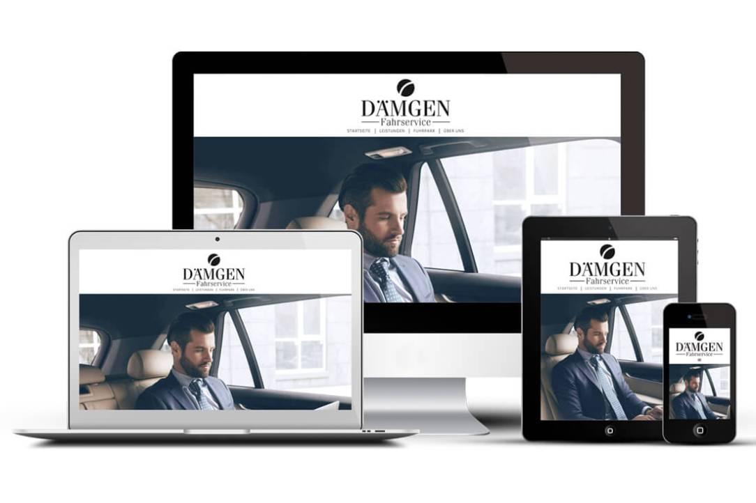 Dämgen-Fahrservice: Responsive Design Webseite