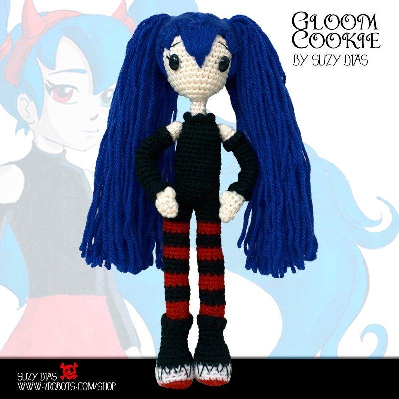 Gloom Cookie Handmade Doll by Suzy Dias