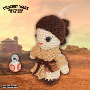 Crochet Star Wars Amigurumi Rey by Suzy Dias