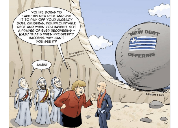 Yanis Varoufakis tweeted our Merry Felonies Greece Cartoon update 3
