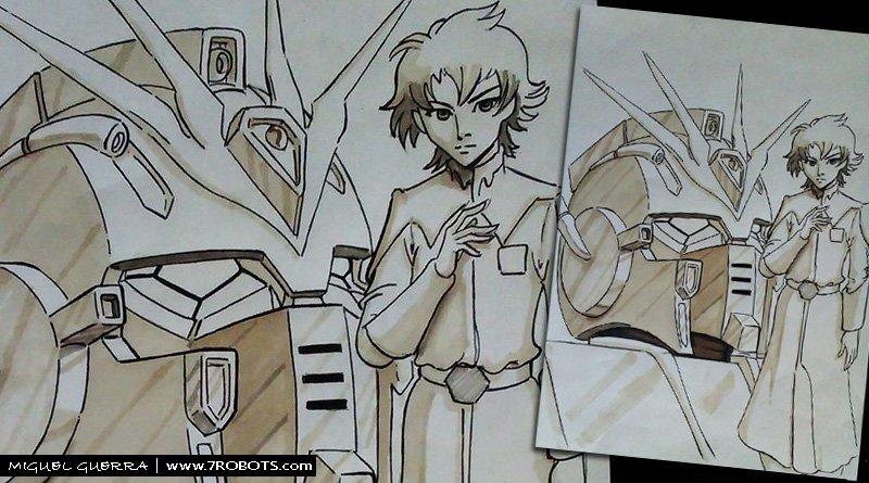 Miguel Guerra Gundam fan art