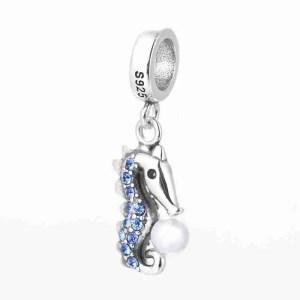Seahorse With Pearl Charm - 7SEASJewelry