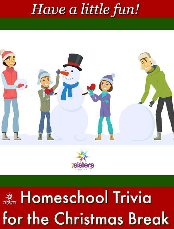 Homeschool Trivia for Christmas Break