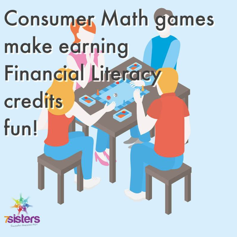Consumer Math games make Financial Literacy credit more fun. A list of favorite online and board games than enhance a Financial Literacy course.